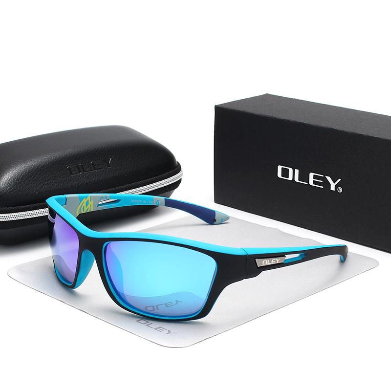 OLEY Polarized Sunglasses Men's Driving Shades Outdoor sports For Men Luxury Brand Designer Oculos Customizable logo YG202