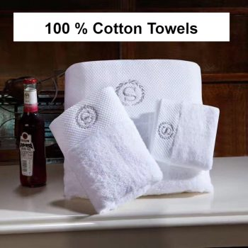 LOVRTRAVEL Pakistan Cotton Luxury Bath Towels Set, Cotton Beach Terry Bath Towels for Adults, White Serviette Face Hand towel