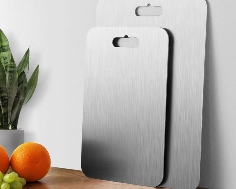 ICESTCHEF 304 Stainless Steel Chopping Block Antibacterial Anti-mildew Cutting Boards Chopping Board Fruit Vegetable Meat Tools