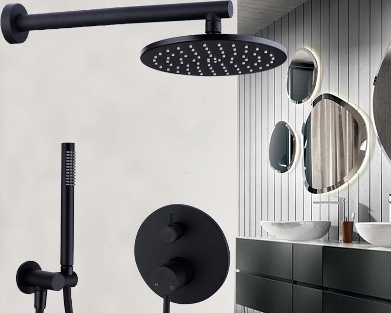 Brass Black Bath Shower Faucets 8-12