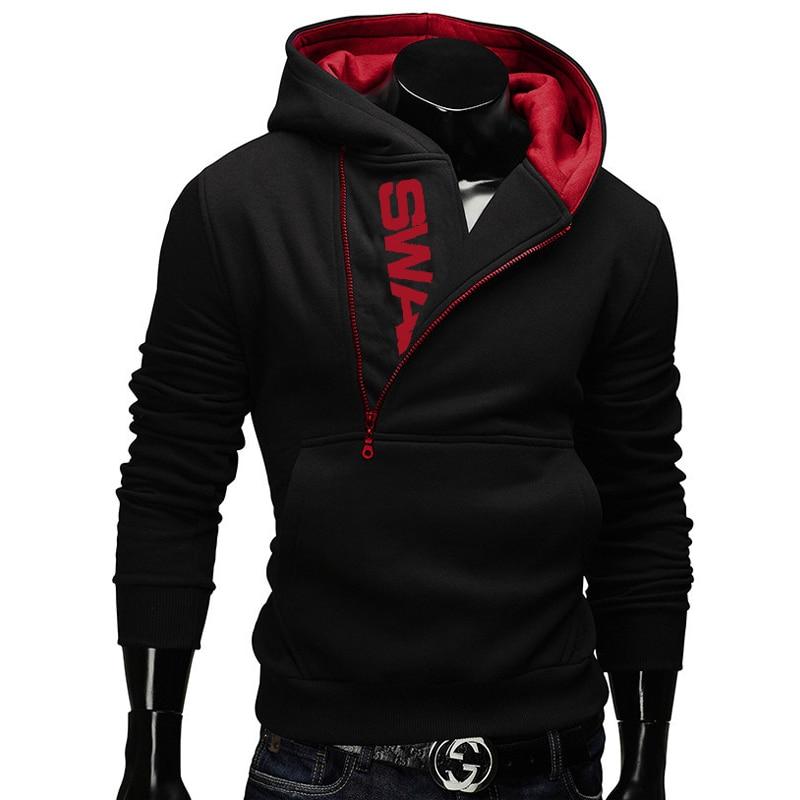 IceLion 2019 Side Zipper Hoodies Men Cotton Sweatshirt Spring Letter Print Sportswear Slim Pullover Tracksuit Hip Hop Streetwear