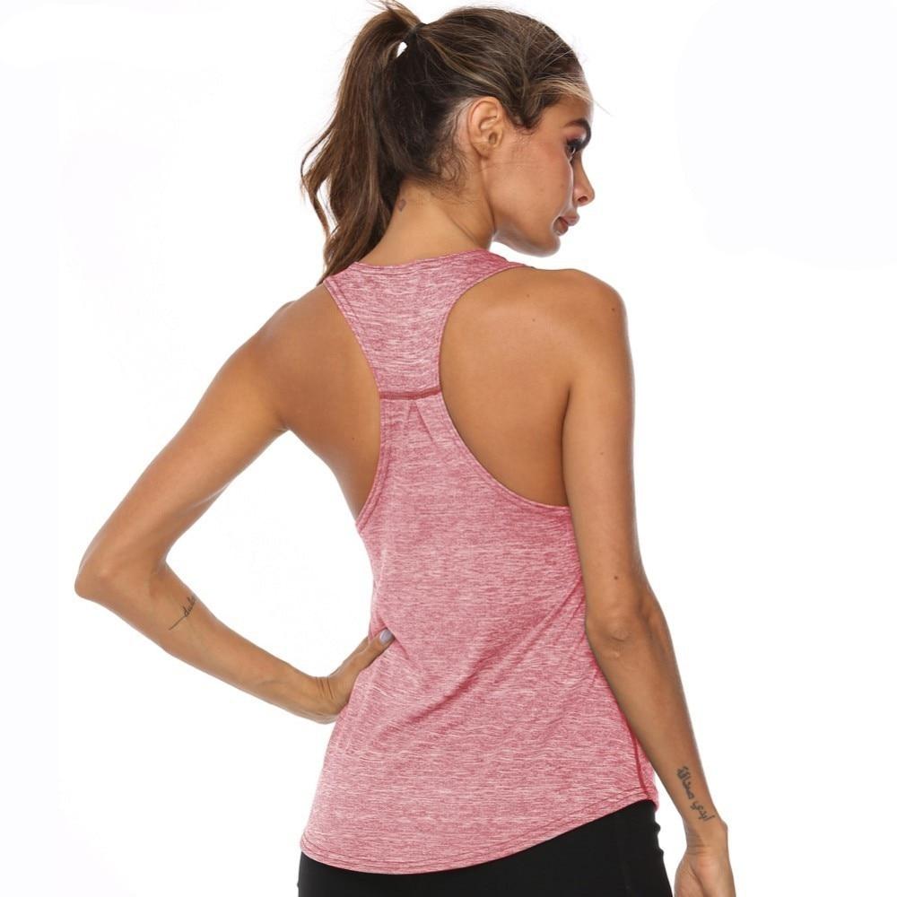 Women`s Racer Back Fitness Sleeveless Tops