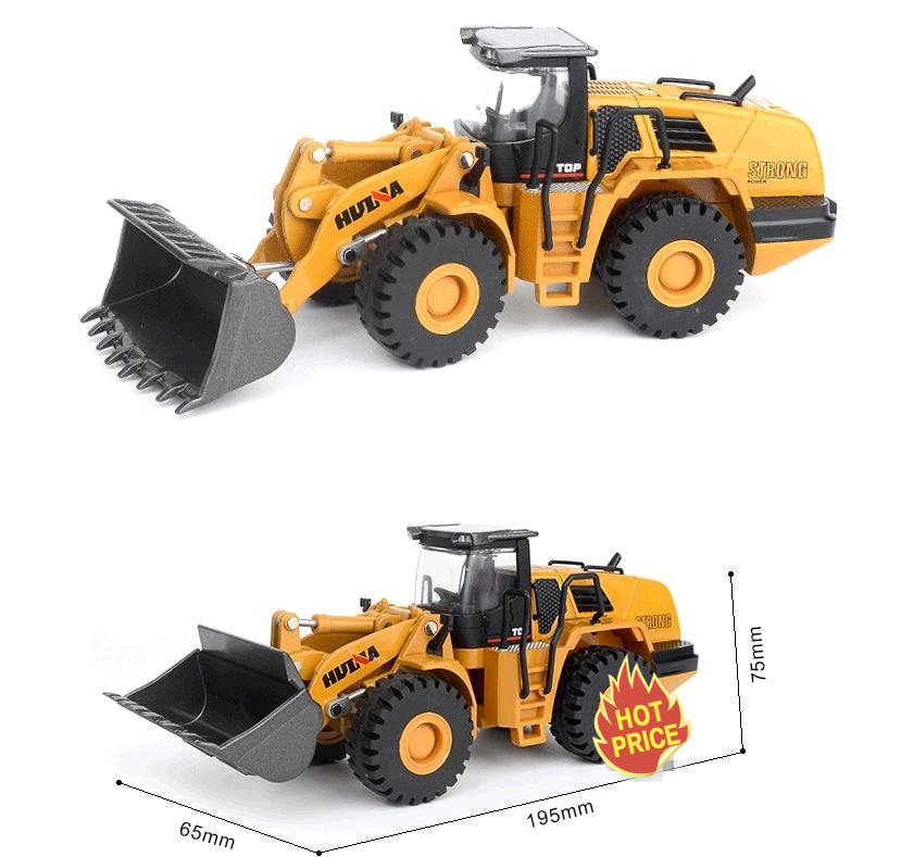 high simulation alloy engineering vehicle model, 1: 50 Loader shovel truck toys, metal castings, toy vehicles, free shipping